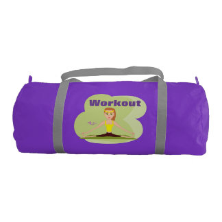 Workout Girl Purple Gym/Duffel Bag Gym Duffel Bag