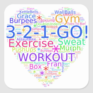 Workout Heart - Crossfit-Inspired Fitness Sticker