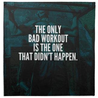 Workout Inspirational Words - Bad Workout Napkin