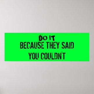 Workout Motivation Poster