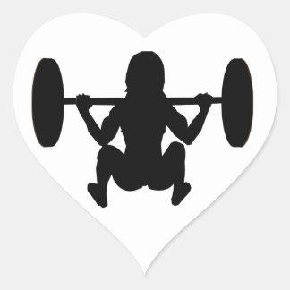 workout mum heart sticker