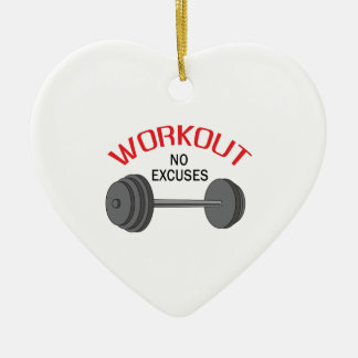 WORKOUT NO EXCUSES CHRISTMAS ORNAMENT
