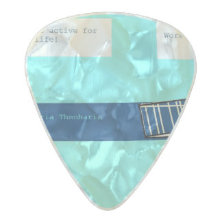 workout pearl celluloid guitar pick
