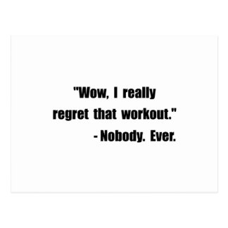Workout Quote Postcard