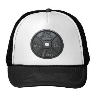 Workout - Stay Hungry, Stay Humble - Barbell Plate Cap