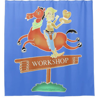 Workshop Cowboy shower curtain