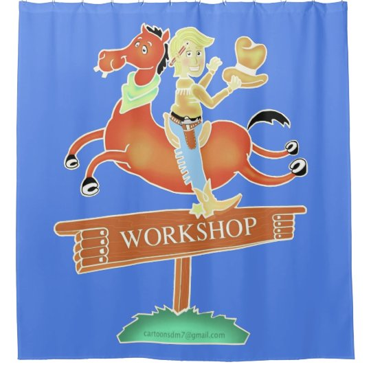 Workshop Cowboy shower curtain