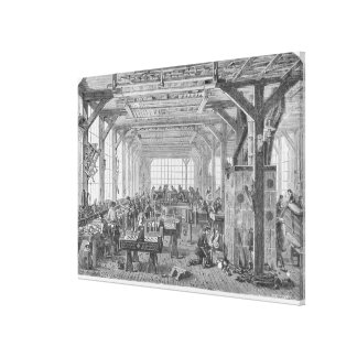 Workshop of Pleyel pianos makers Canvas Print