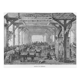 Workshop of Pleyel pianos makers Postcard