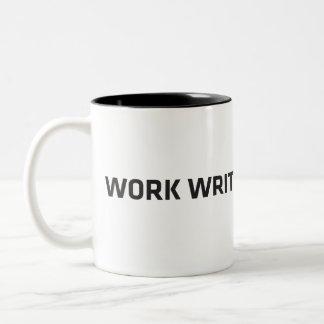 WorkWriteSubmitWait Two-Tone Coffee Mug