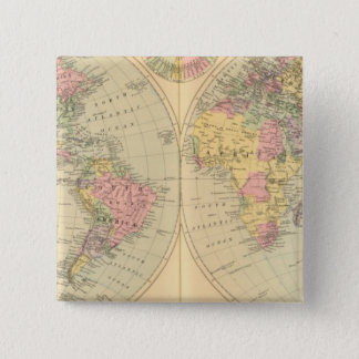 World 10 15 cm square badge