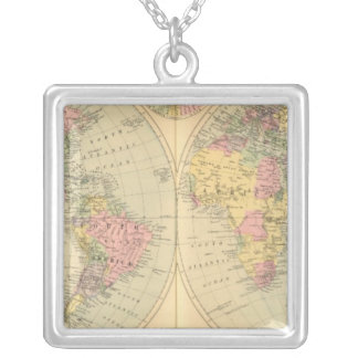 World 10 silver plated necklace