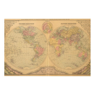 World 10 wood canvases