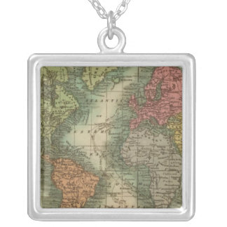 World 4 silver plated necklace