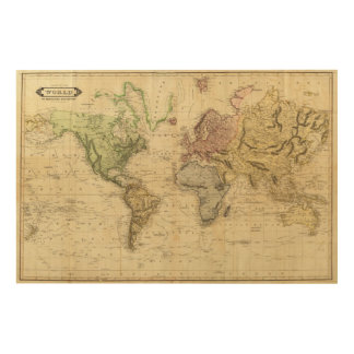 World 5 wood canvas