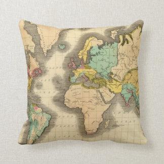World 6 throw pillow