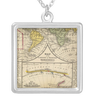 World 7 silver plated necklace