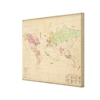 World 8 canvas print
