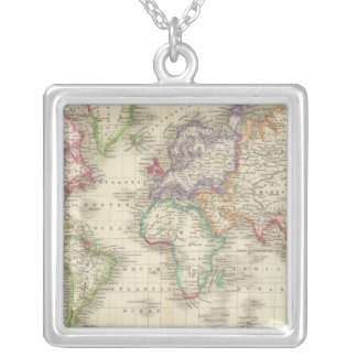 World 9 silver plated necklace
