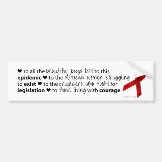 World AIDS Day 2010 Bumper Sticker
