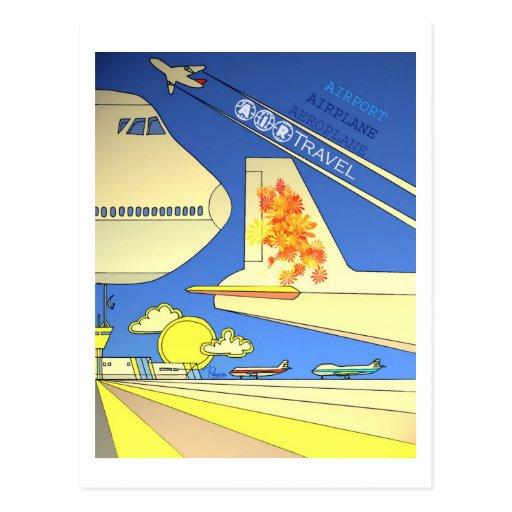 World Airlines vintage postcard