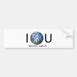 World Apart Bumper Stickers