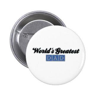 World's Greatest Dad (Blue) 6 Cm Round Badge