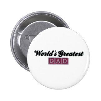 World's Greatest Dad (Burgundy) 6 Cm Round Badge