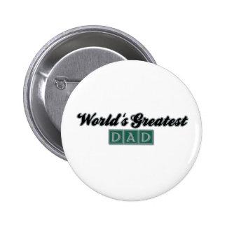 World's Greatest Dad (Green) 6 Cm Round Badge