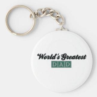 World's Greatest Dad (Green) Keychain