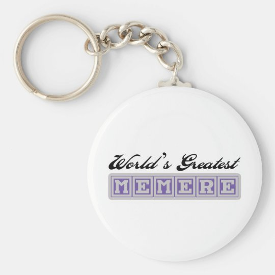 World's Greatest Memere Basic Round Button Key Ring