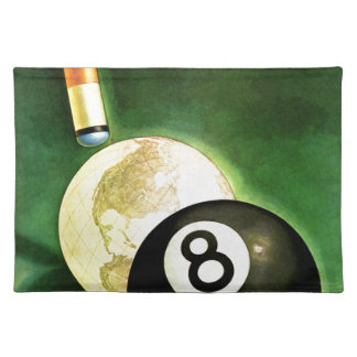 World as Cue Ball Placemat