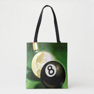 World as Cue Ball Tote Bag