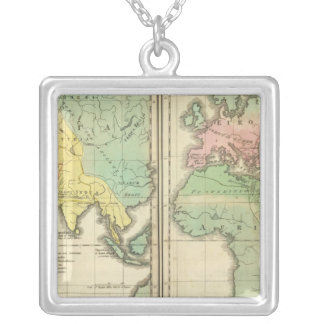 World as Known to the Ancients Division Silver Plated Necklace