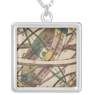 World Atlas 2 Silver Plated Necklace