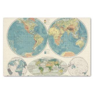 World Atlas Map 2 Tissue Paper