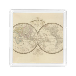 World Atlas Map Acrylic Tray