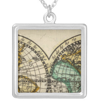 World Atlas Silver Plated Necklace