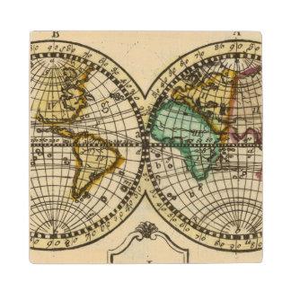 World Atlas Wood Coaster