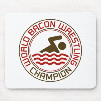 World Bacon Wrestling Champion Mousemats