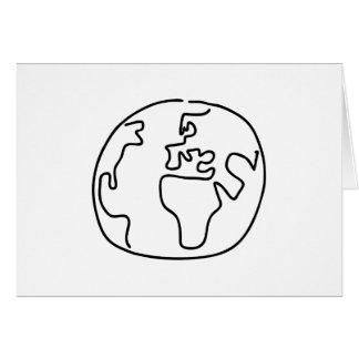 World ball globe map of the world Africa Europe Greeting Card