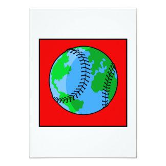 World Baseball Logo 13 Cm X 18 Cm Invitation Card