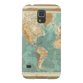World bathyorographical map galaxy s5 case