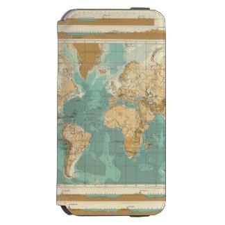 World bathyorographical map incipio watson™ iPhone 6 wallet case