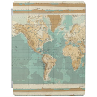 World bathyorographical map iPad cover