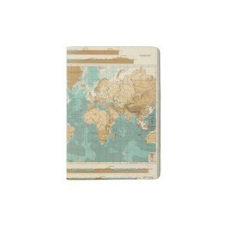 World bathyorographical map passport holder