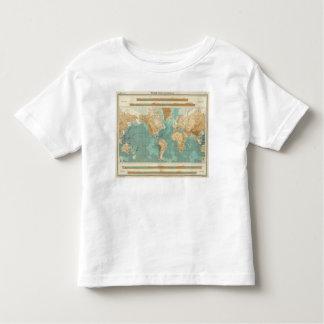 World bathyorographical map toddler T-Shirt