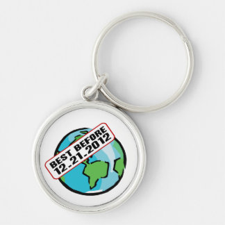 World Best Before 12.21.2012 Silver-Colored Round Key Ring