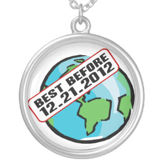 World Best Before 12.21.2012 Round Pendant Necklace