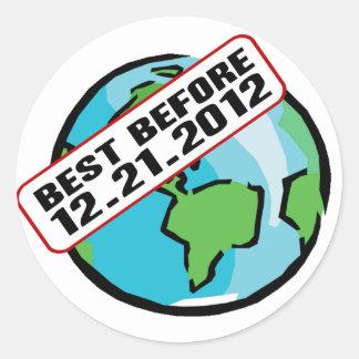 World Best Before 12.21.2012 Round Sticker